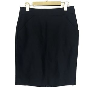 J Crew The Pencil Skirt Cotton Solid Black